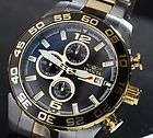 Invicta II Mens Diver Quartz Chronograph Two Tone Stainless Steel