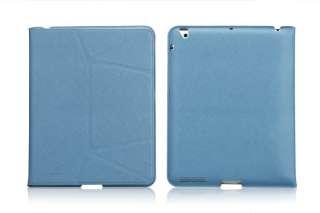 New iPad 3rd Smart Cover Microfiber Leather Case wake/sleep Stand