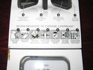 iPhone 4 4S Case Black New In Box Apple Cover Life Proof Generation 2