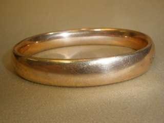 Vtg VICTORIAN ANTIQUE GOLD FILLED GF HINGED BANGLE BRACELET Engraved