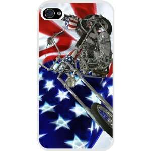 Flag Harley Davidson White Hard Case Cover for Apple iPhone® 4