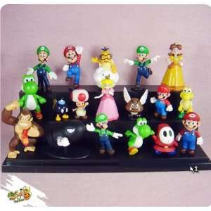 ems high quality pvc 18 super mario bros luigi action