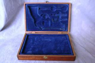 L341 VINTAGE / ANTIQUE WALNUT PISTOL GUN PRESENTATION BOX