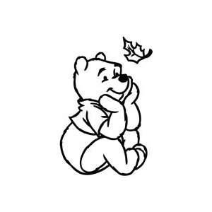 Winnie The Pooh Maple Leaf   Cartoon Decal Vinyl Car Wall
