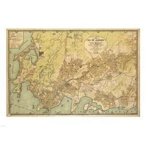 Mapa da Cidade do Rio de Janeiro   1929 Poster (24.00 x 18