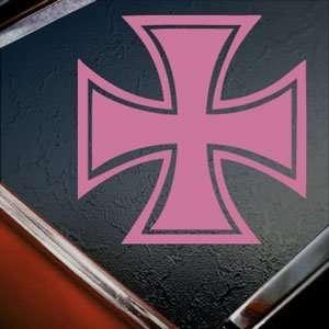 Iron Cross Pink Decal Truck Bumper Window Vinyl Pink