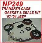NP249 JEEP TRANSFER CASE GASKET & SEALS KIT 93 04 PROFESSIONAL
