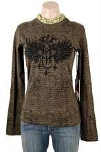 Rock and Roll Cowgirl Long Sleeve Shirt in Olive
