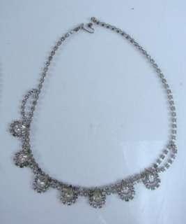 Vtg Lot Rhinestone Costume Jewelry Brooches Pins Bracelets Earrings