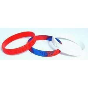 Major League Baseball Team Wrist Band Sets   Chicago Cubs