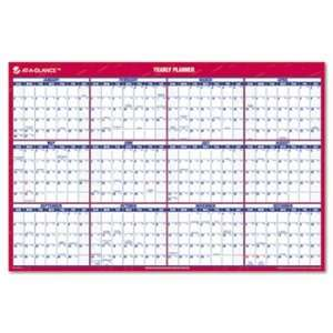 AT A GLANCE Recycled Vertical/Horizontal Erasable Wall Planner, 24 x