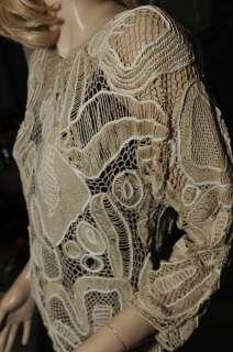 LIMS Unique Gorgeous Strawberry Hand Crochet Top S BEI