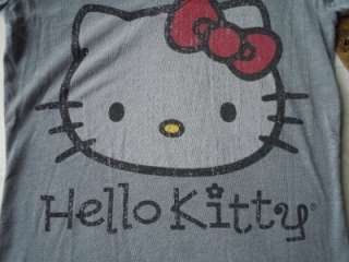Vintage License Hello Kitty Gray T Shirt Tee NWT