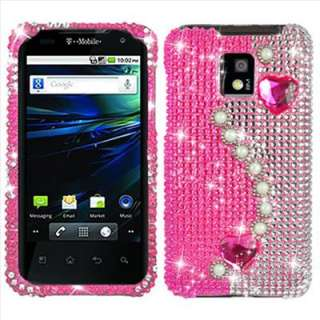 Pink Bling Diamond Hard Case Cover for LG T Mobile G2X