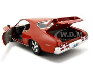 1969 PONTIAC GTO JUDGE ORANGE 124 DIECAST MODEL CAR