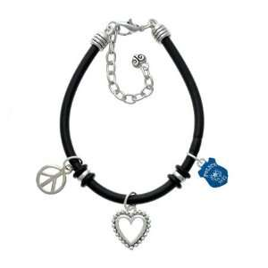 Policemans Badge Black Peace Love Charm Bracelet [Jewelry] Jewelry