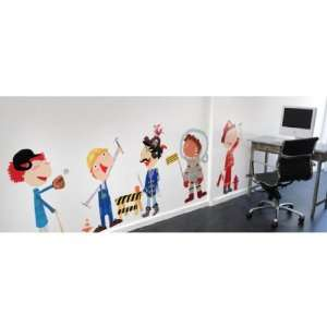 Pop and Lolli Funky and Fun Boy Accessories Wall Stickers