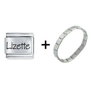 Name Lizette Italian Charm: Pugster: Jewelry