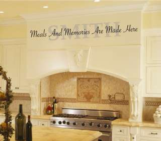Meals And Memories Are Made Kitchen Vinyl Wall Word Art |
