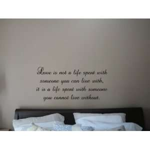 Spent With Someone You Can Live With Vinyl Wall Decal