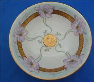 Antique White Art Co. Chicage Bowl Limoges Floral Handpainted Artist