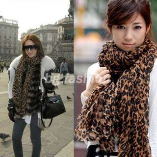 NEW Fashion Ladies Soft Leopard Print Shawl Scarf Neck Wrap Around