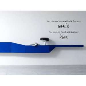 Changed My World With Just One Smile Vinyl Wall Decal