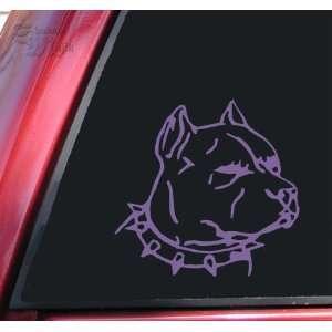 Pit Bull Pitbull Head #1 Vinyl Decal Sticker   Lavender