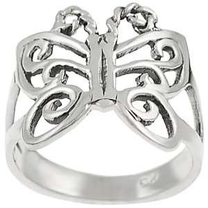 Sterling Silver Cut out Butterfly Ring Jewelry