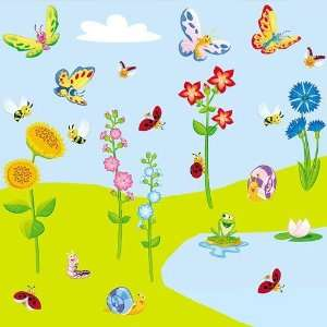 Meadow   Giant Wall Sticker Decals (Kit 82.7 x 39.4 Inches