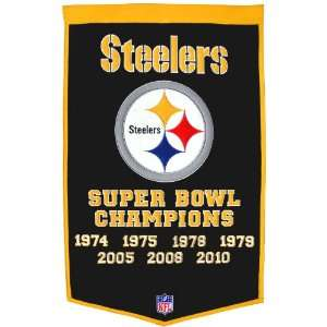 NFL Pittsburgh Steelers Dynasty Banner