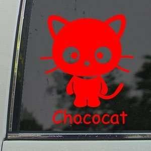 CHOCOCAT CAT KITTEN Red Decal Car Truck Window Red Sticker