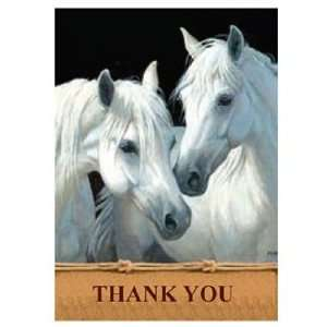 Tree Free Best Friends Equine Thank You Cards   12 Cards