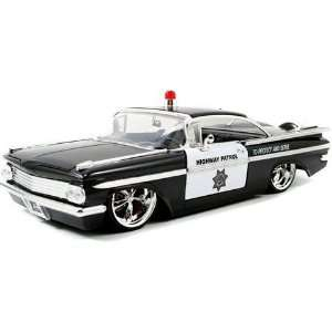 1959 Chevrolet Impala Diecast Police Model Car 1/24 Toys