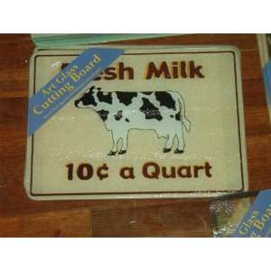 Art Glass Cutting Board  Fresh Milk