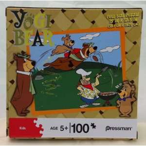 Yogi Bear 100 Piece Puzzle   Yogi and Boo Boo Stealing Burgers Toys