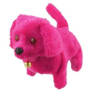 Neck Bell Walking Barking Electronic Dog Toy Fuchsia Toys & Games
