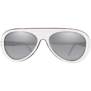White/Red/Blue/Smoke with Silver Mirror / One Size Fits All