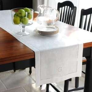 CREAM Linen Hemstitch Table Runner Set of 6 With Optional