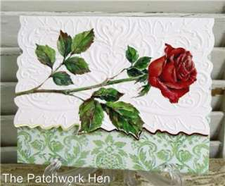 Carol Wilson Single Red Rose Blank Note Card Set 10ct 095372222907