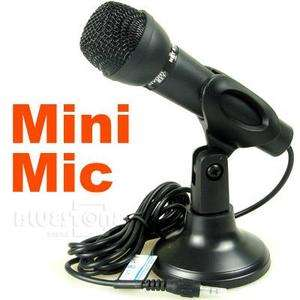 Black 3.5mm Mini Studio Speech Mic Microphone w/Stand