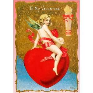 Unique High Quality On top of my Heart Vintage Valentines