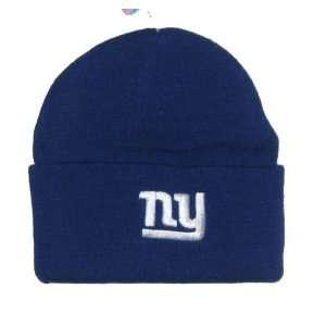 New York Giants NFL Team Apparel Blue Classic Cuffed Knit