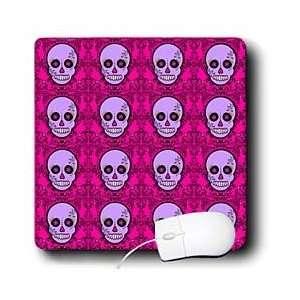 Dead Skull Día de los Muertos Sugar Skull Print Purple Pink   Mouse