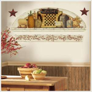 COUNTRY STAR Wall Sticker Decals PRIMITIVE Welcome ARCH