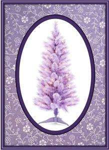French LAVENDER Lilac Tulle Butterfly Feather Tree Valentines Day