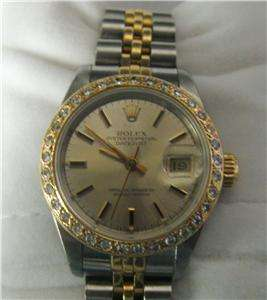 Ladies Rolex Oyster Perpetual DateJust Two Tone Jubilee *Diamond Face