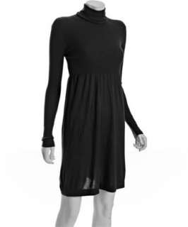 Autumn Cashmere black cashmere turtleneck sweater dress   up