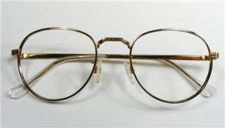 LARGE NEW OLD STOCK GOLD FILIGREE SEMI ROUND EYEGLASS FRAMES MADE IN