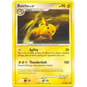 Raichu UNCOMMON #045   Pokemon DP5 Majestic Dawn: Toys